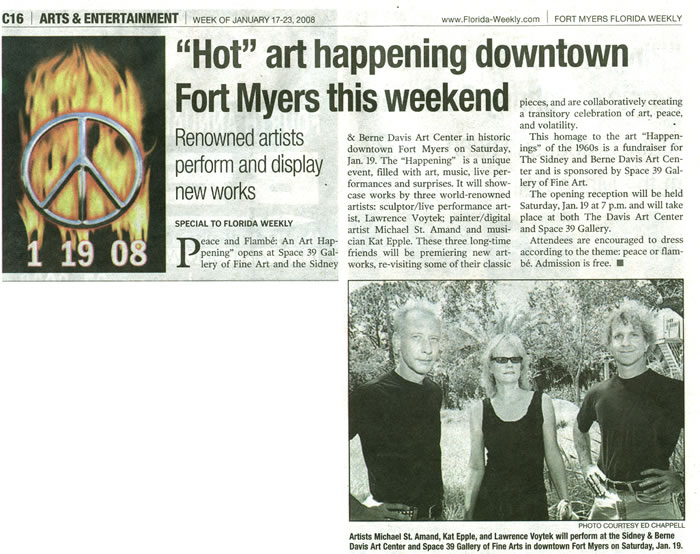 Happenings Arts and Entertainment Magazine Ft Myers Florida Peace and Flambe